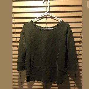 Women's Large Olive Green 3/4 Sleeve Top